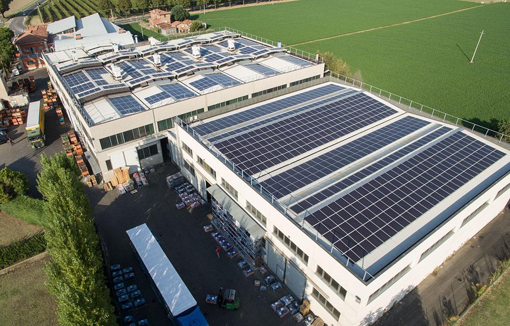 tetto fotovoltaico zappettificio muzzi